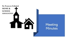 HSA Meeting Minutes